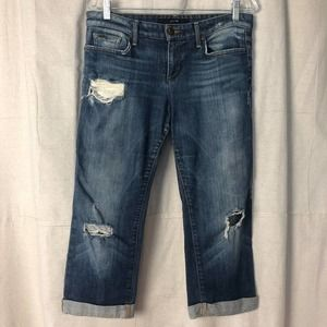 Joe's Jeans Cropped Ex-Lover Distressed Jeans